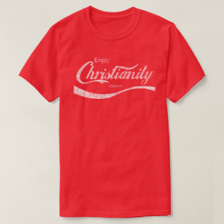 Vintage Distressed Enjoy Christianity T-Shirt