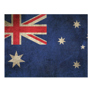 Vintage Distressed Flag of Australia Postcard