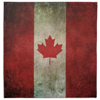 Vintage Distressed Flag of Canada Napkin