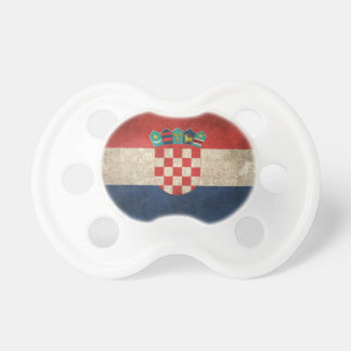 Vintage Distressed Flag of Croatia Pacifiers