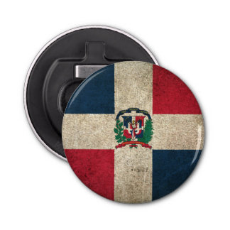 Vintage Distressed Flag of Dominican Republic Bottle Opener