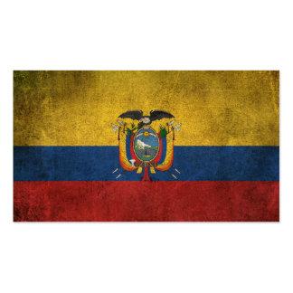 Vintage Distressed Flag of Ecuador Pack Of Standard Business Cards