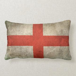 Vintage Distressed Flag of England Lumbar Cushion