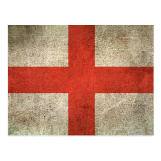 Vintage Distressed Flag of England Postcard