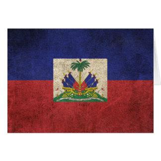 Vintage Distressed Flag of Haiti Greeting Card