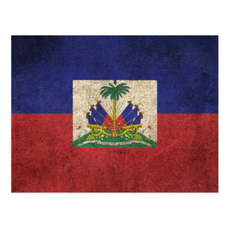 Vintage Distressed Flag of Haiti Postcard