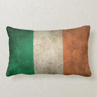 Vintage Distressed Flag of Ireland Lumbar Pillow