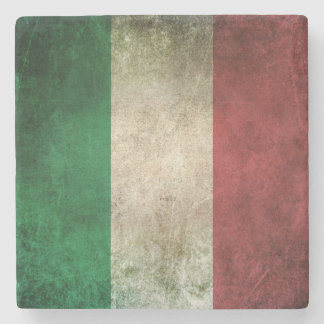 Vintage Distressed Flag of Italy Stone Coaster