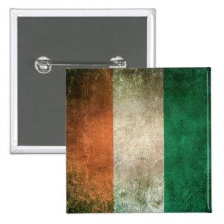 Vintage Distressed Flag of Ivory Coast 15 Cm Square Badge