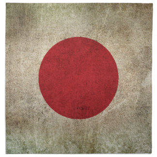 Vintage Distressed Flag of Japan Napkin