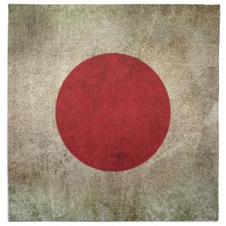 Vintage Distressed Flag of Japan Napkin