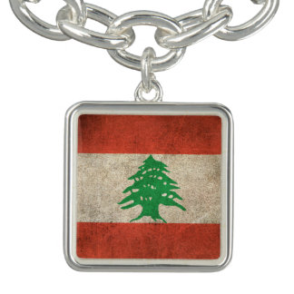Vintage Distressed Flag of Lebanon