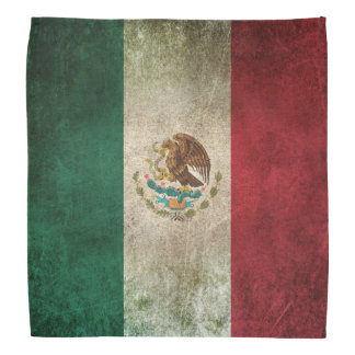 Vintage Distressed Flag of Mexico Bandana