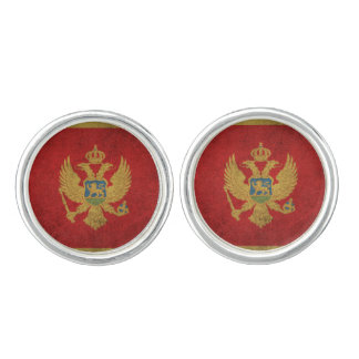 Vintage Distressed Flag of Montenegro Cufflinks