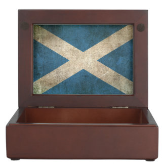 Vintage Distressed Flag of Scotland Keepsake Box
