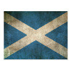 Vintage Distressed Flag of Scotland Postcard