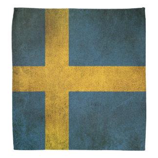 Vintage Distressed Flag of Sweden Bandana