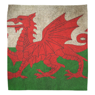 Vintage Distressed Flag of Wales Bandana