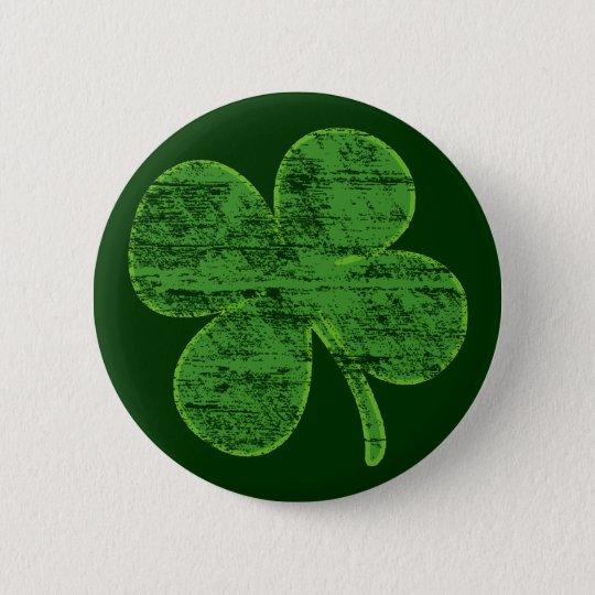 Vintage Distressed Four-Leaf Clover Pin