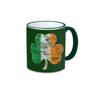 Vintage Distressed Irish Flag Shamrock Coffee Mug