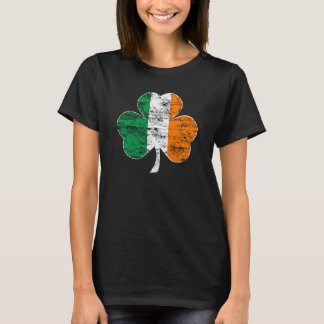 Vintage Distressed Irish Flag Shamrock T-shirt