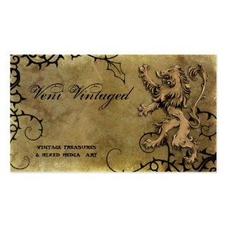 Vintage Distressed Lion Thorns Business Cards