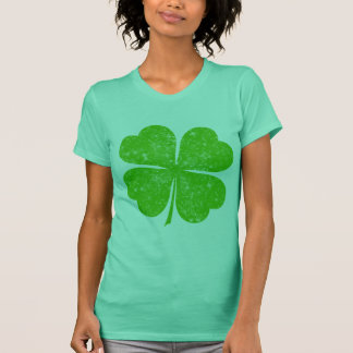 Vintage Distressed Lucky 4 Leaf Clover T-Shirt