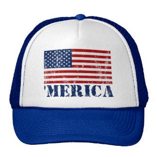 Vintage Distressed 'MERICA US Flag Cap