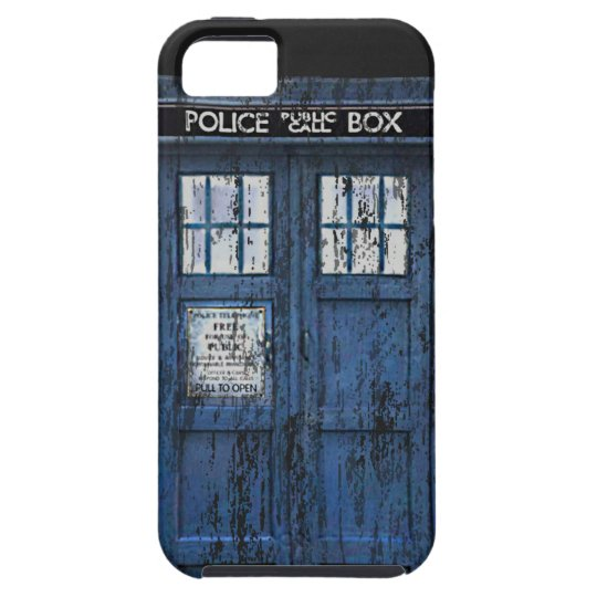 Vintage Distressed Public Call Box iPhone 5 Case