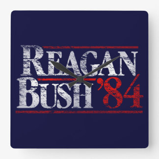 Vintage Distressed Reagan Bush '84 Campaign Clocks
