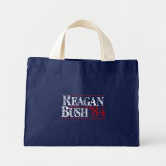 Vintage Distressed Reagan Bush '84 Campaign Mini Tote Bag
