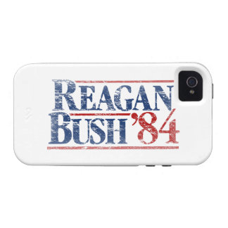 Vintage Distressed Reagan Bush '84 Vibe iPhone 4 Case