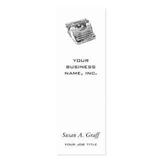 Vintage Distressed Underwood Typewriter Business Card Template