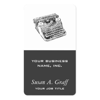Vintage Distressed Underwood Typewriter Pack Of Standard Business Cards