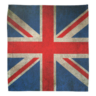 Vintage Distressed Union Jack Flag of The UK Bandana