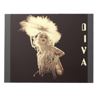 Vintage Diva Notepad