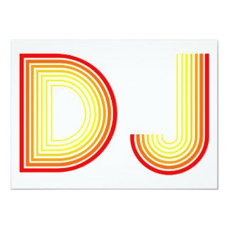 vintage DJ 11 Cm X 16 Cm Invitation Card