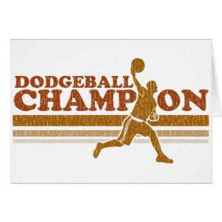 Vintage Dodgeball Champion Card