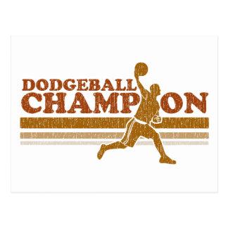 Vintage Dodgeball Champion Postcard