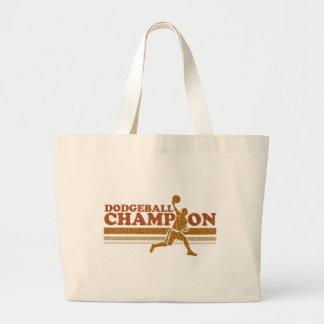 Vintage Dodgeball Champion Jumbo Tote Bag