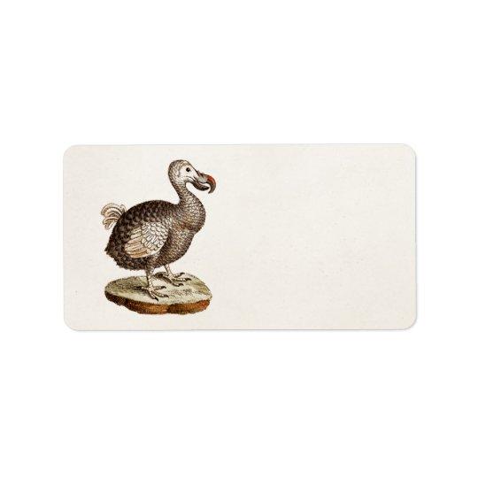 Vintage Dodo Bird Illustration 1700s Dodo Birds Address Label
