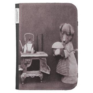 Vintage Dog Baking in the Kitchen Kindle 3G Case