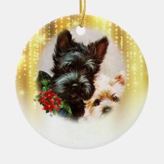 Vintage Dog Christmas Ornament