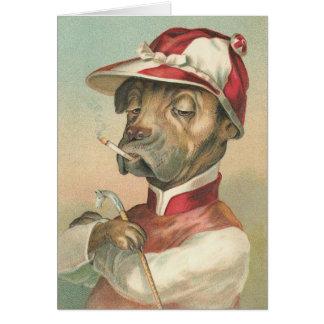 Vintage Dog Jockey Greeting Cards
