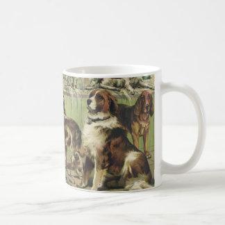 Vintage dog show basic white mug