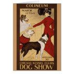 Vintage Dog Show Card
