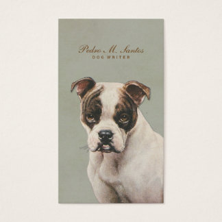 Vintage Dog Writer Cool Animal Simple Professional