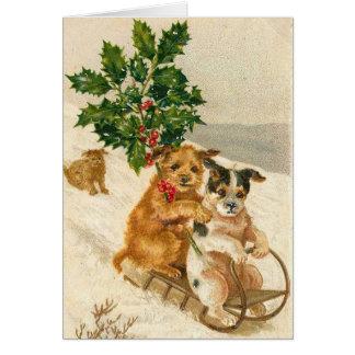 Vintage Dogs, Christmas Card