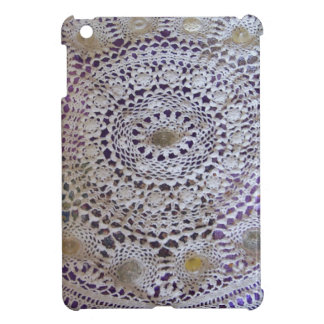 Vintage Doily and Buttons iPad Mini Case