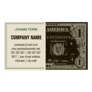 Vintage Dollar Pack Of Standard Business Cards